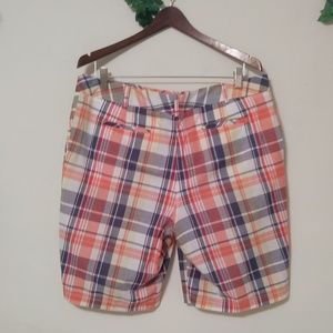 Talbots Shorts - Talbots Plaid Bermuda 100% Cotton Shorts
